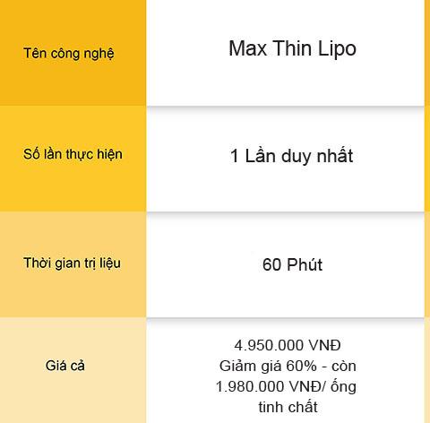 """MAX THIN LIPO - CÔNG NGHỆ GIẢM BÉO LÀM """"XIÊU LÒNG"""" NGƯỜI NỔI TIẾNG 6"""