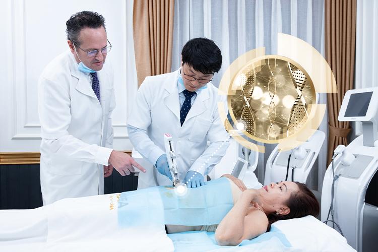 Quá trình xuống cân bắt đầu với một buổi điều trị nhanh chóng chỉ 60 phút