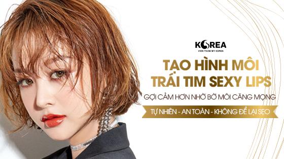 Tạo hình môi trái tim Sexy Lips tại VTM Korea giúp bạn quyến rũ và thu hút hơn.