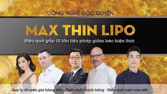 Giảm béo công nghệ Max Thin Lipo - cách có vòng eo thon gọn nhanh nhất