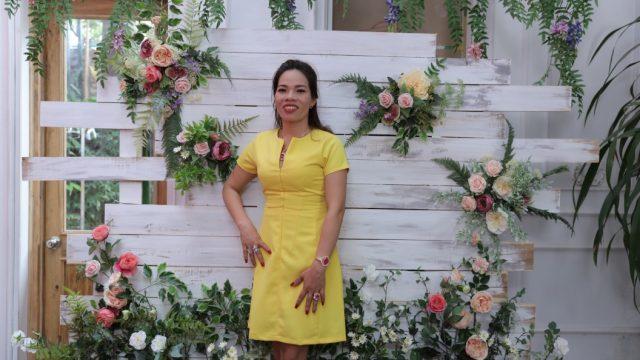 Với diện mạo mới, chị Giang tha hồ lựa chọn nhiều loại trang phục với nhiều màu sắc khác nhau