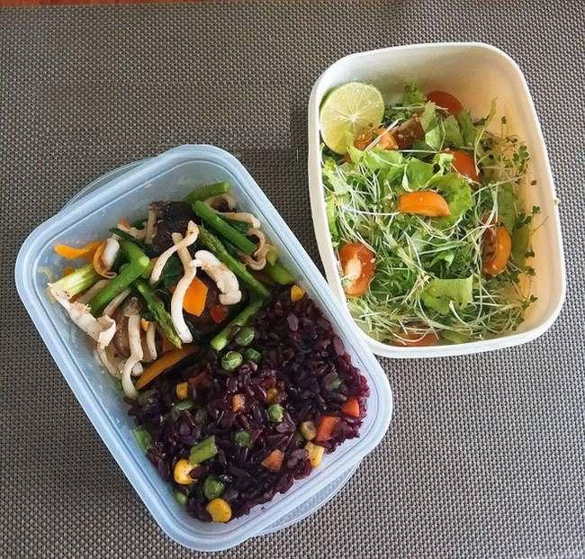 Một khẩu phần ăn như trên không chỉ giúp tăng cường sức khỏe mà còn cung cấp đủ năng lượng cho tập luyện