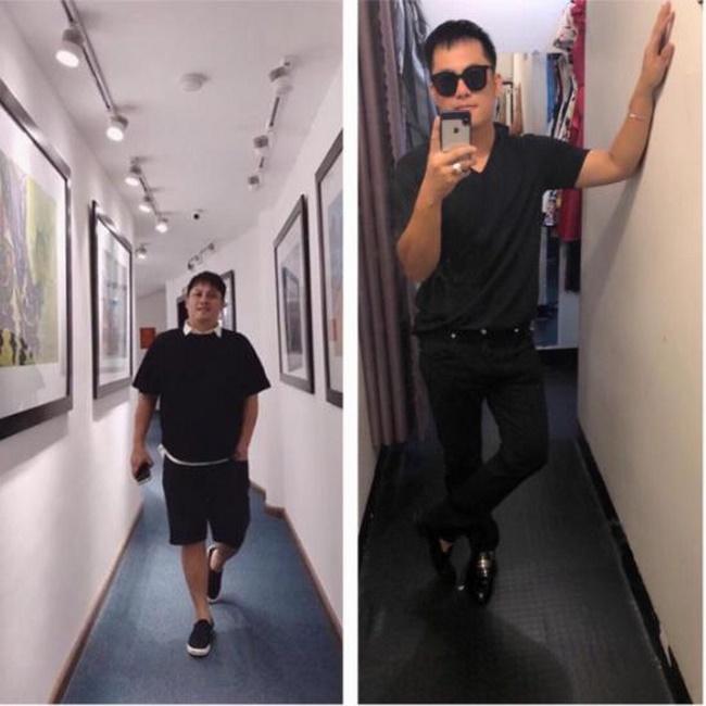Hình ảnh trước và sau khi anh Toàn giảm béo thành công tại VTM Korea
