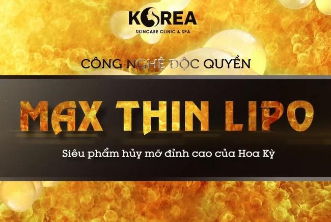 Công nghệ giảm mỡ bụng Max Thin Lipo đã làm nên tên tuổi VTM Korea