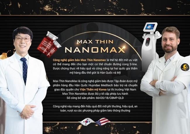 Giảm béo cấp tốc với Max Thin Nanomax mà không cần ăn kiêng, tập luyện