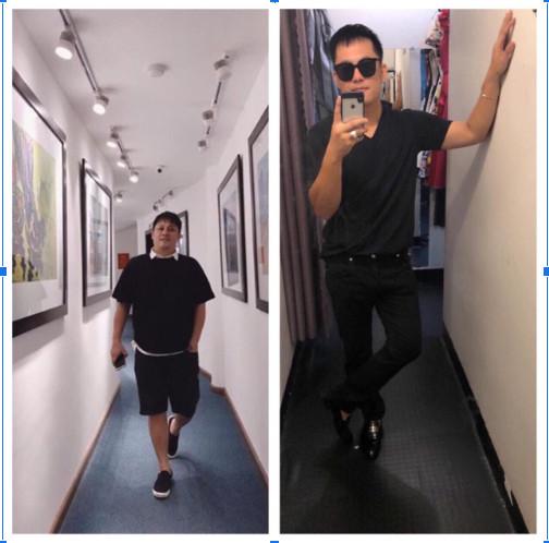 Anh Toàn trước và sau khi giảm được 15kg