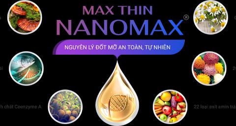 Thành phần giảm béo Max Thin Nanomax gồm thảo dược thiên nhiên