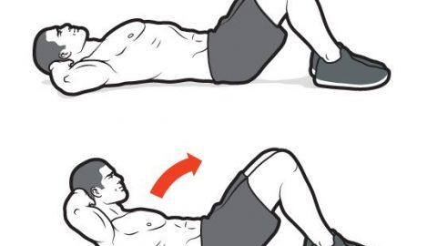gập bụng - bài tập giảm mỡ bụng cho nam