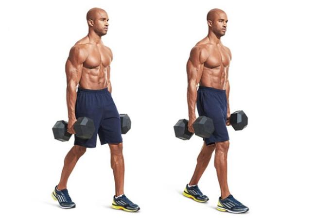 Bước chân kết hợp tạ nặng làm tiêu hao năng lượng và mỡ thừa cực lớn