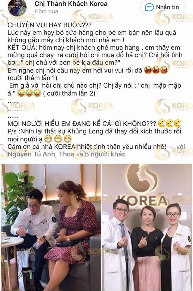 Feedback của khách hàng gửi tới Korea