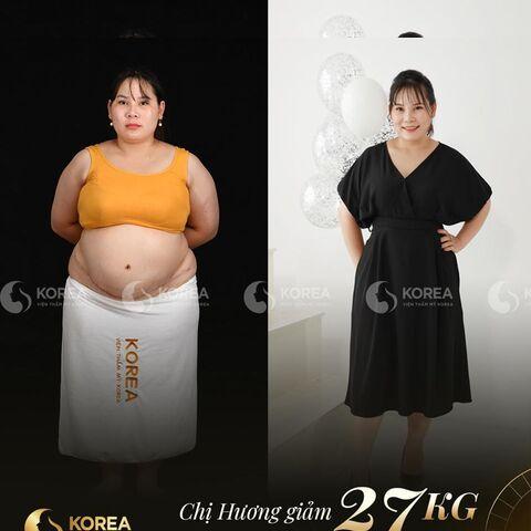 Chị Hương nêu cảm nhận sau khi giảm béo tại Viện thẩm mỹ Korea