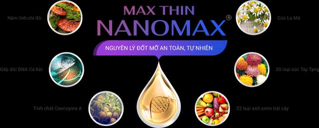 Max Thin Nanomax hoạt động theo cơ chế tác động tinh chất đốt mỡ giúp hóa lỏng chúng rồi đào thải ra bên ngoài