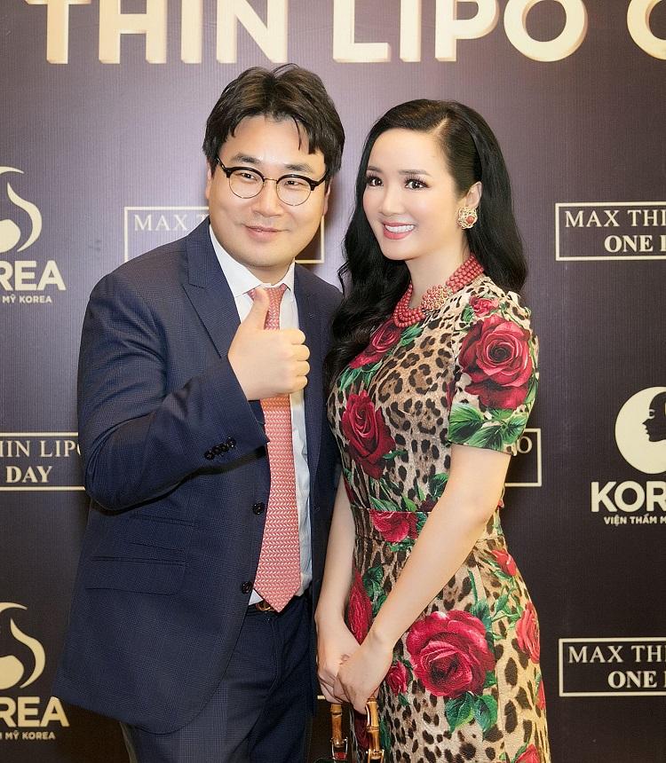 """Hoa hậu Giáng My xuất hiện tại chương trình """"Chiến dịch thoát béo"""" do VTM Korea tổ chức để chia sẻ về bí quyết """"giữ dáng"""" của mình"""