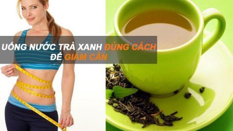 uống chè xanh giảm cân