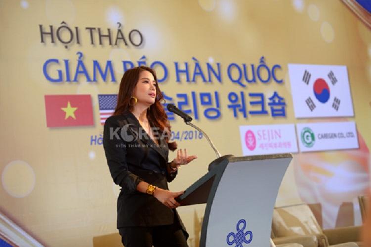 Siêu mẫu, diễn viên Trương Ngọc Ánh chia sẻ rằng mình đã giảm béo thành công nhờ công nghệ Max Thin tại thẩm mỹ viện Korea