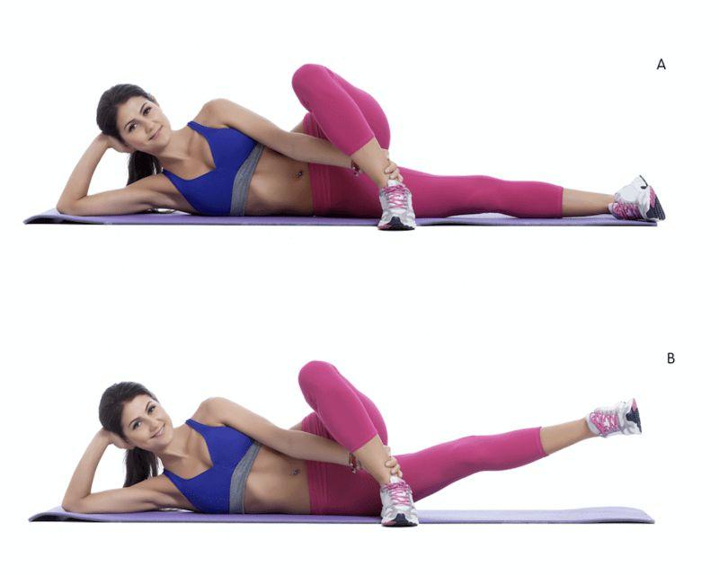 Bài tập Inter Leg Lift giảm mỡ bắp chân hiệu quả