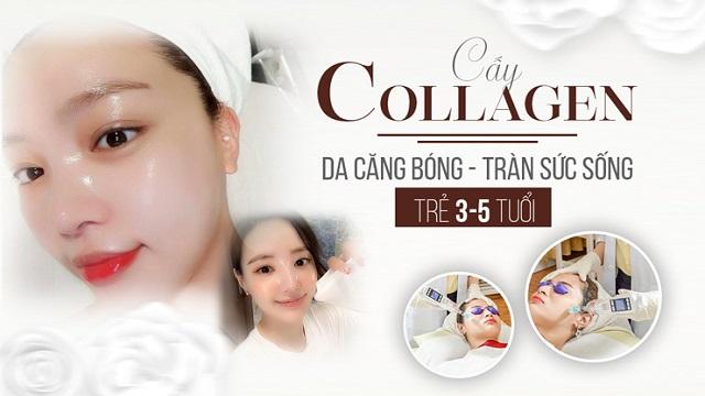 Cấy collagen tươi có tác dụng trẻ hóa làn da trở nên căng mịn, tươi trẻ hơn
