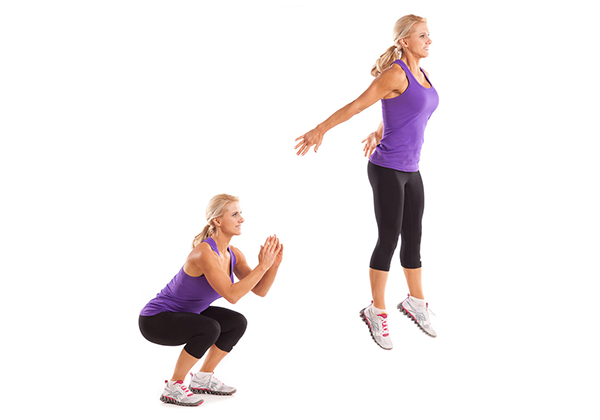 Bài tập Jump Squat sử dụng các cơ dưới làm cốt lõi