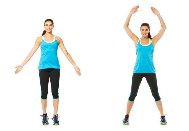 Bài tập thể dục giảm cân toàn thân Jumping Jacks