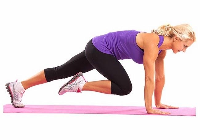 Bài tập thể dục giảm cân toàn thân - đùi thon gọn Mountain Climbers