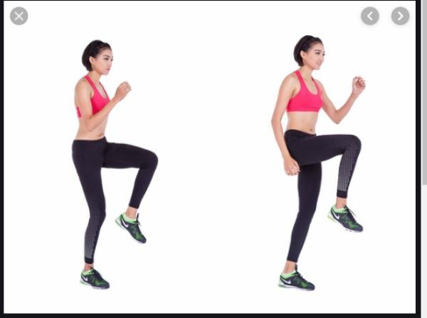 giảm mỡ toàn thân với bài tập hiit chạy nâng cao gối tại chỗ