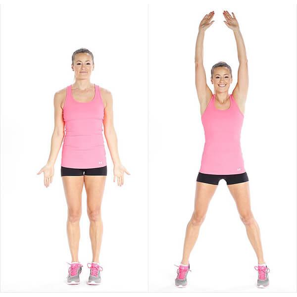 giảm mỡ toàn thân với bài tập nhanh gọn với bài tập Jumping Jacks