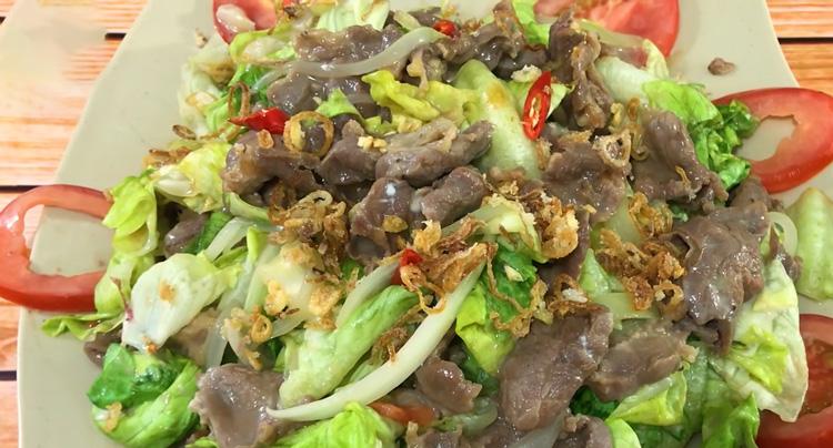 Chế biến món salad thịt bò giảm cân