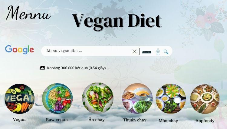 Thực đơn giảm cân Vegan Diet