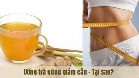 Cách làm trà gừng giảm cân