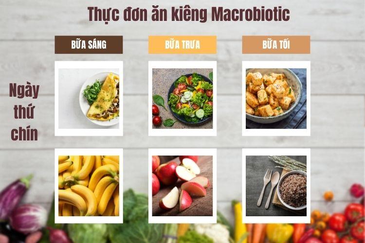 Thực đơn ăn kiêng Macrobiotic ngày 9