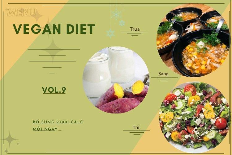 Thực đơn ăn kiêng Vegan diet (ăn thuần chay) ngày 9