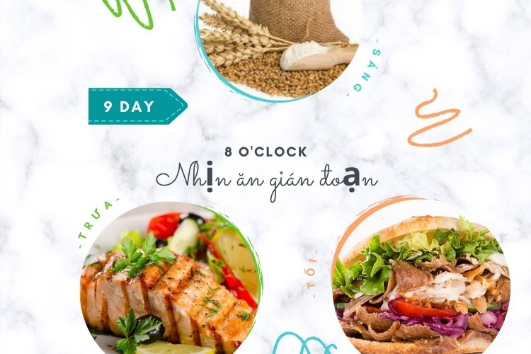 Nhịn ăn gián đoạn 8 giờ ngày 9