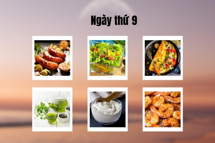 ăn kiêng theo chế độ phân ly ngày 9