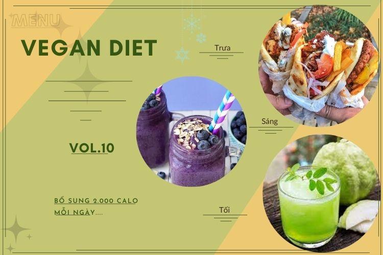 Thực đơn ăn kiêng Vegan diet (ăn thuần chay) ngày 10