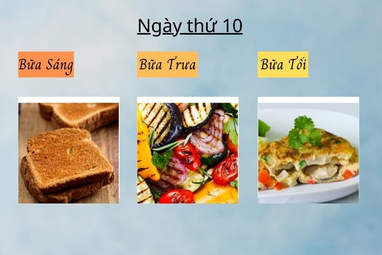ăn kiêng theo chế độ phân ly ngày 10