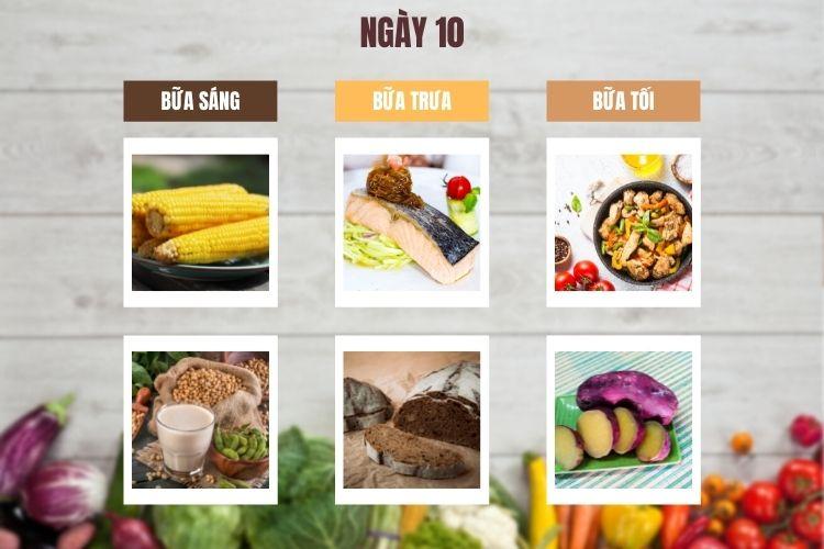 Thực đơn ăn kiêng 1.200 calo 14 ngày ngày 10