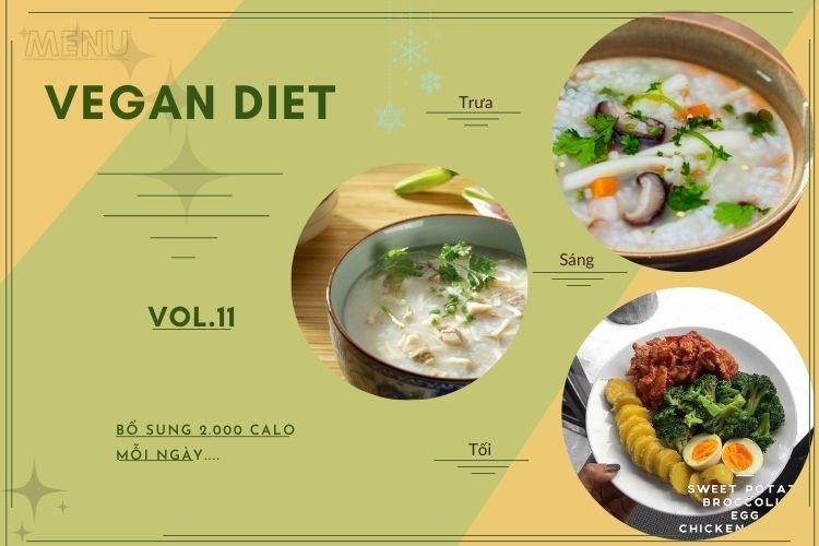 Thực đơn ăn kiêng Vegan diet (ăn thuần chay) ngày 11