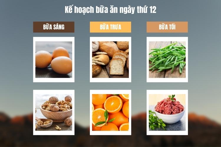 Kế hoạch bữa ăn ngày thứ 11