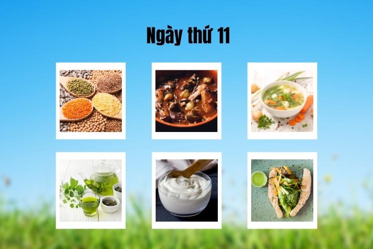 ăn kiêng theo chế độ phân ly ngày 11