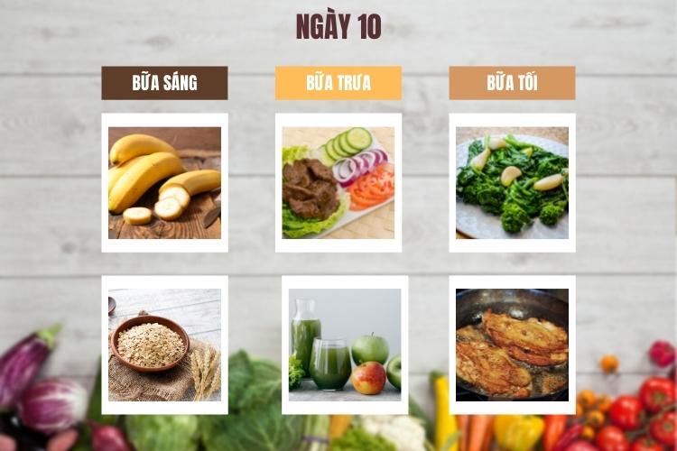 Thực đơn lowcarb giảm cân trong 14 ngày ngày 10