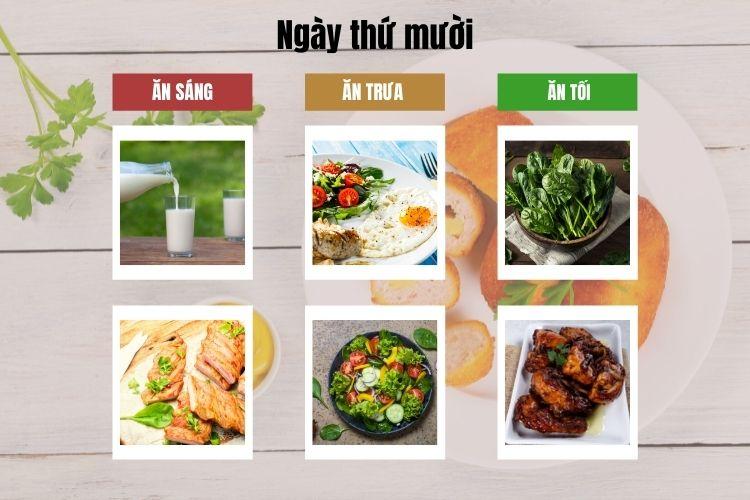 Thực đơn ăn kiêng Keto chuẩn ngày 10