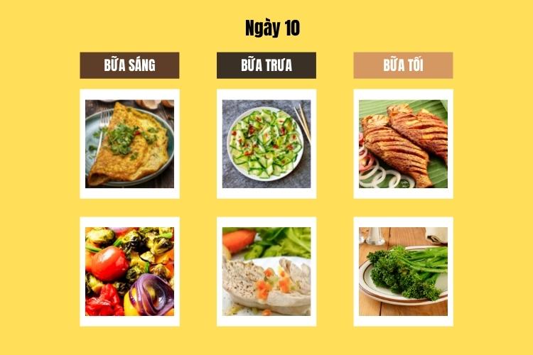 Thực đơn Wild Diet ngày 10