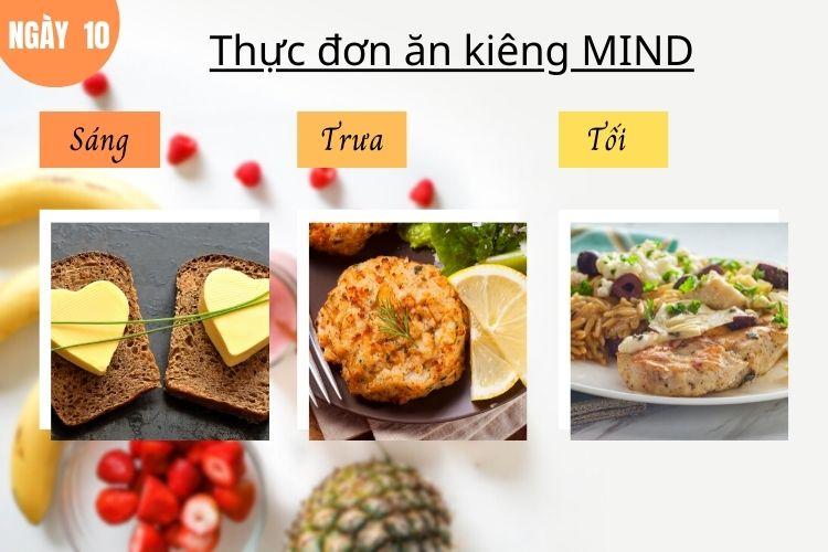 Thực đơn ăn kiêng Mind ngày 10