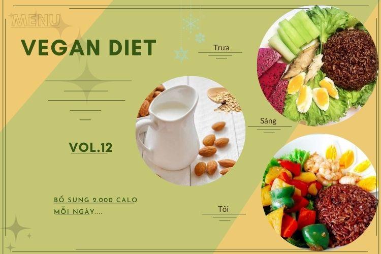 Thực đơn ăn kiêng Vegan diet (ăn thuần chay) ngày 12