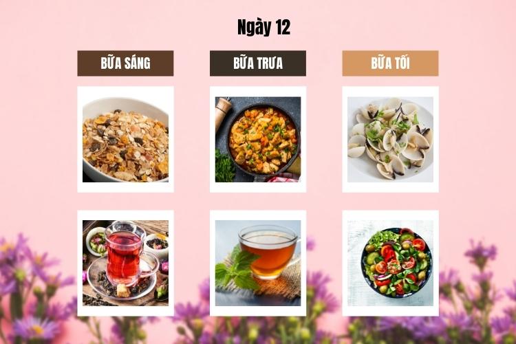 ăn kiêng theo chế độ phân ly ngày 12