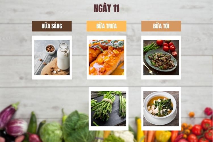Thực đơn lowcarb giảm cân trong 14 ngày ngày 11