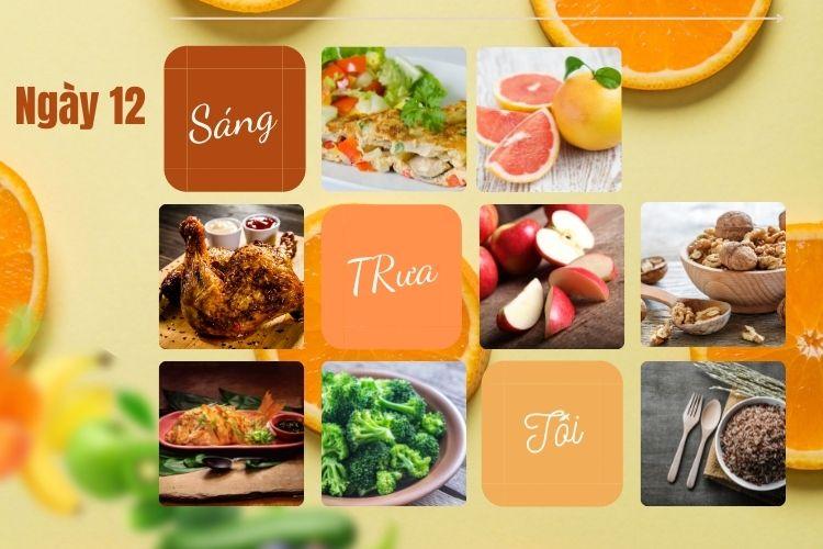 Thực đơn ăn kiêng Macrobiotic ngày 12