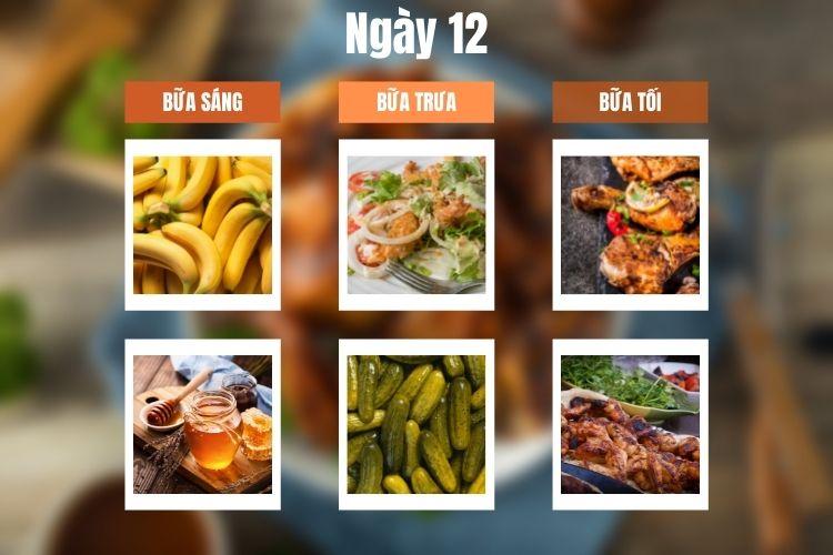Thực đơn ăn kiêng 5:2 ngày 12