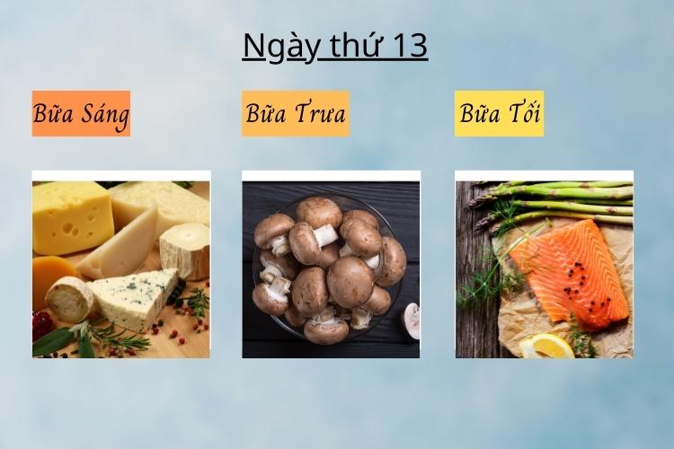 ăn kiêng theo chế độ phân ly ngày 13