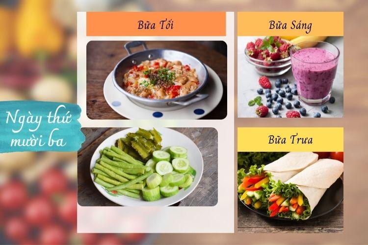 Thực đơn ăn kiêng Macrobiotic ngày 13
